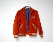 RTHS VARSITY . red corduroy distressed jacket . size 18 - 20 . made in Maryland, USA