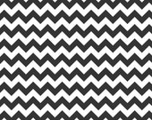 SALE  1 yard  - Black Chevron (Small)  Riley Blake Designs