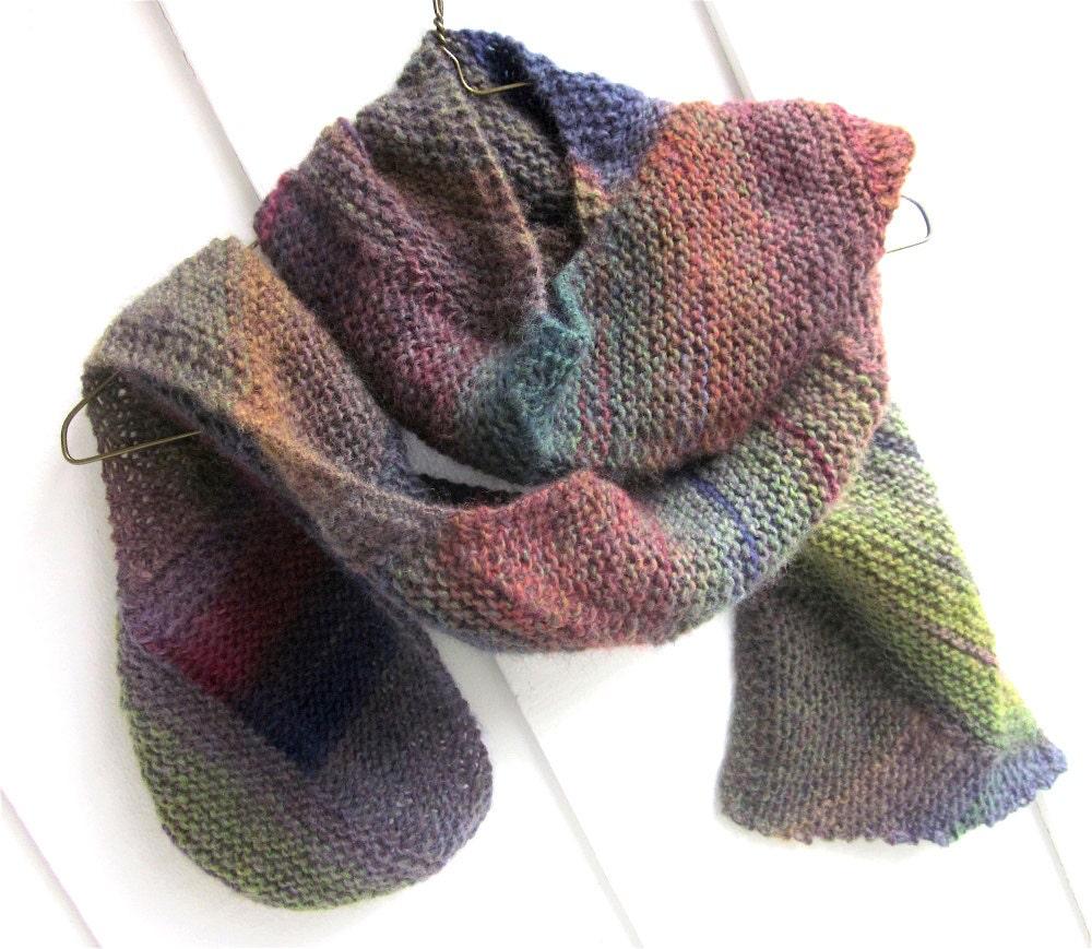 Knitting Wearable Art : Woman s scarf wearable art hand knit fall winter