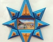 Tramp art starburst frame
