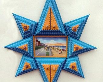 Tramp art starburst frame