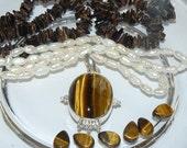 Tiger Eye Necklace Kit #kit23