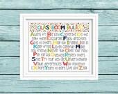 Classroom Rules art. Classroom decor. Teacher gift. Elementary school classroom. Colorful Kids art. Typography Print.