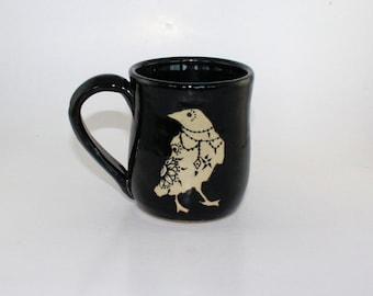 Mehndi Crow Mug black- 8oz