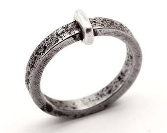 Hasp ring - iron, silver