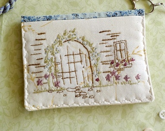 Cottage Door Hand Embroidery PDF Pattern Instant Digital Download
