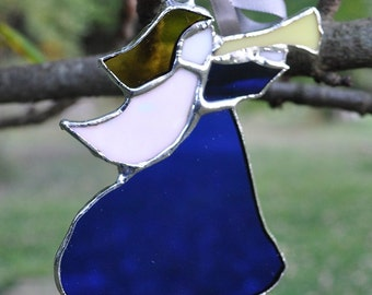 Angel-trumpeting- blue glass-suncather