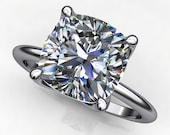 natalie ring - 2.5 carat cushion cut NEO moissanite engagement ring