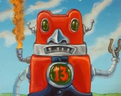 Bad Luck Robot - Original painting by Mr Hooper of Nashville Tennessee
