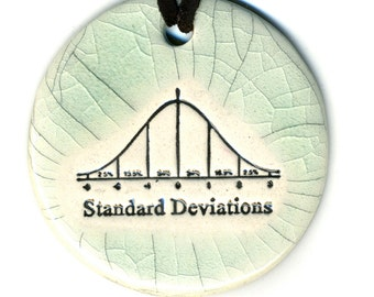 Standard Deviations Ceramic Necklace in Crackle