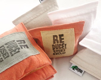 Laundry pillows Lavender Sachet for the Dryer and more Reduce Reuse Recycle On SET of THREE