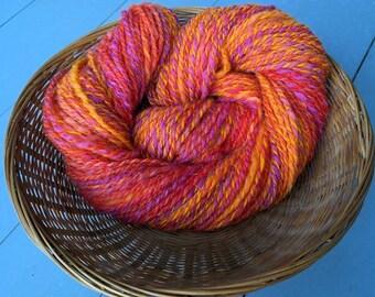 Ranunculus, handspun wool and silk yarn, 48 g/150 yds. DK yarn, sport yarn