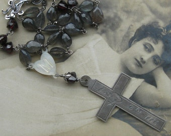 nun cross . necklace