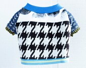 houndstooth hound COURTNEYCOURTNEY french bulldog upcycled sweater cotton knit outfit top