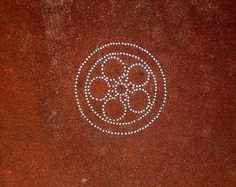 Vintage Japanese Stencil - Family Crest - Japanese Kamon - Vintage Stencil - (69) flower Stencil