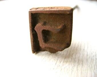 Vintage Branding Iron - Japanese Branding Iron - Yakiin - Yakin -  Branding Iron - Metal Stamp - KO Katakana S422