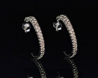 VDay SALE Tentacle Earrings, 14K Gold, Octopus Earrings,  Octopus Jewelry - OctopusME Hoop Earring