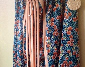 Vtg Chessa Davis Wildflower and Fern Maxi Skirt
