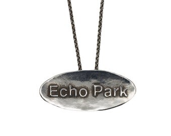 Porterness Studio Silver - Echo Park  - Los Angeles - Pendent on Sterling Silver Chain