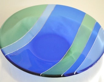 Handmade Glass Bowl, Fused Glass Bowl, Striped Bowl, Glass Bowl, Celebration, Party, Wedding Gift, CGGE, Nivenglass