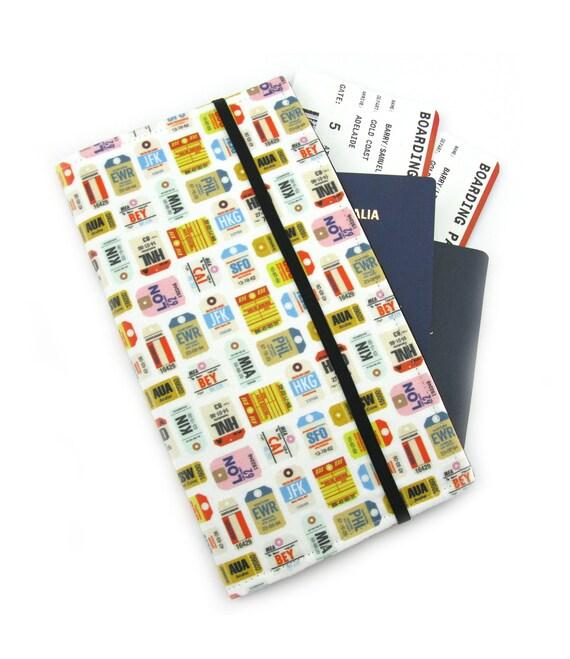 Travel document wallet passport holder family travel wallet for Family travel document organizer
