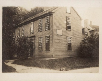 vintage photo 1918 John Hancock Clark House Lexington MA Historic Home Vintage SNapshot