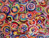 Scrappy Fabric Flowers Fabric Appliques Birthday Party Wedding Shower Embellishment Scrapbook 12 Valentine Funky