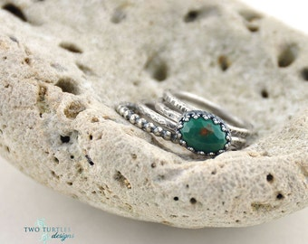 Two Turtles Designs ~Foxy Lady~ Turquoise Stacking Rings