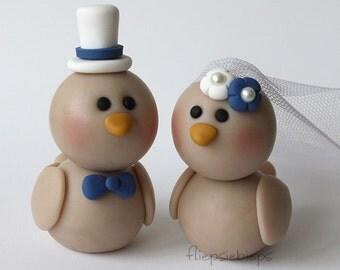Custom Birds Wedding Cake Topper