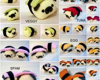 Custom Mini Sushi Pug