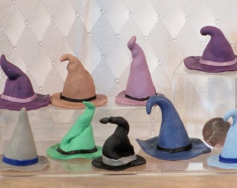 Miniatue wizard or witch hat, polymer clay