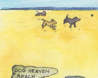 Dog bereavement card, Dog Heaven - Design No 45