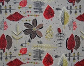 VINTAGE mid century BARKCLOTH by Vogue remnant upholstry fabric