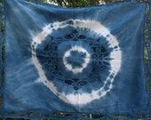 Indigo dyed shibori pillow sham