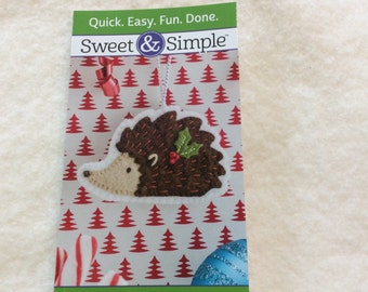 Festive Hedgehog - From Sweet And Simple - 4.00 Dollars