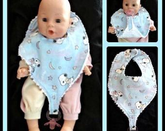 Sew Ez PDF Sewing Instructions Pattern To Make INFANT Size Binky/ Pacifier/ Teething Bibs