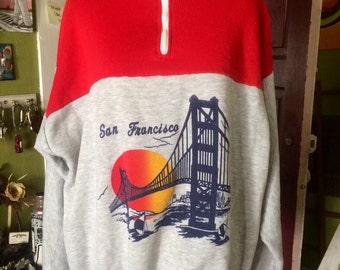 Sweet vintage 1980's unisex San Francisco pullover sweatshirt. Size L/XL