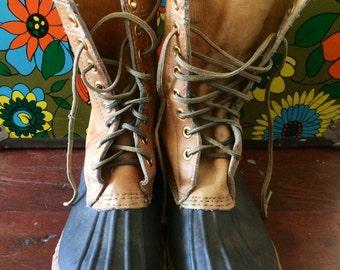 Vintage mens 1980's duck boots size 9