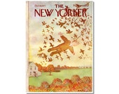 New Yorker Magazine Original COVER ONLY Flying with the Birds by Andre Francois 10-16-71