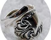 Bold and Beautiful Silver Spoon Ring, Size 9 to 12