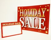 Holiday Sale Sign Package - DIY Printable, Small Business sign templates - 5 designs