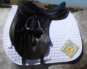 Be Beautiful! Dressage Saddle Pad from The Floral Collection FD-65