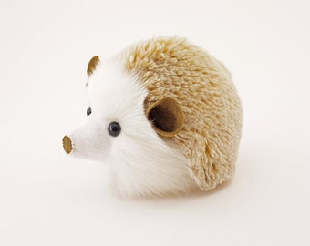 Stuffed Hedgehog Stuffed Animal Mimi the Cute Plush Toy Blonde Hedgehog Kawaii Plushie Fuzzy Cuddly Snuggly Faux Fur Toy Medium 5x8 Inches
