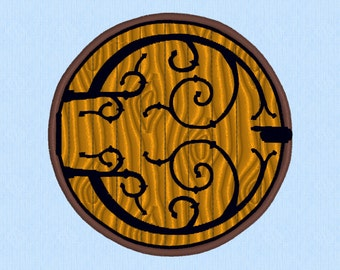Hobbit Hole Door - Lord of the Rings (LOTR) Machine Embroidery Design File