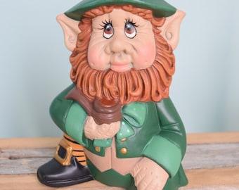 Leprechaun Statue for St Patricks Day - Leprechaun Figurine - St. Patricks day decor - Irish decor - Lucky Leprechaun - redhead Irishman