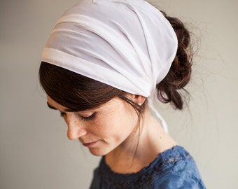 Chiffon Headwrap Garlands of Grace || hair wrap headcovering veil headband