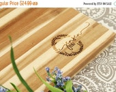 HALLOWEEN SALE Father's Day Gift - Monogrammed cutting board - Wood board - Custom design - Personalized gift - Laser engraved cutting board