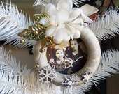 Sisters - Christmas curtain ring ornament - NO 198