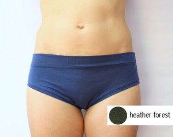 heather forest bamboo jersey panties / bamboo underwear / by replicca / size small / SALE