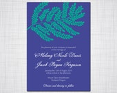 Leafy Fern Branch Wedding Invitation Set, Floral Wedding, Garden Wedding, Forest Wedding invitation, Wedding response, Thank you cards